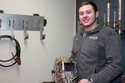Welding Student Situated For Success