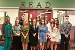 group photo of National Technical Honor Society inductees