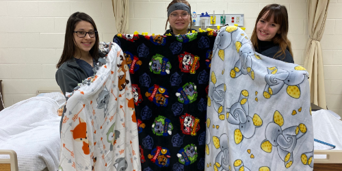 Fairfield Career Center Blankets for Foster Kids